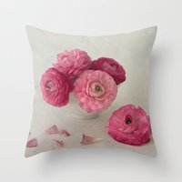 A Cup of Spring Throw Pillow