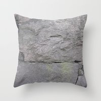 Getting stone walled Throw Pillow