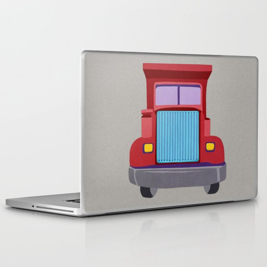 red truck Laptop & iPad Skin