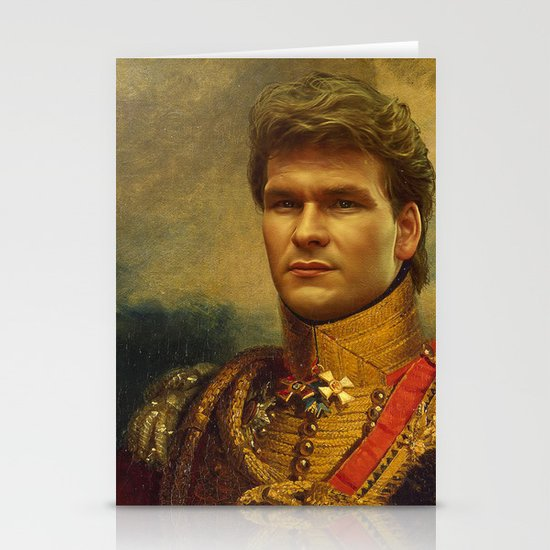 Patrick Swayze - replaceface Stationery Card
