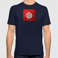 Happy Holidays - Christm… Mens Fitted Tee Navy LARGE