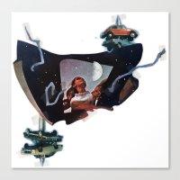 Junket | Collage Canvas Print