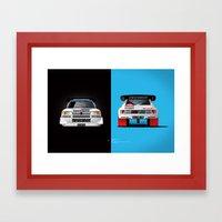 Group B Edition, N.º1, Peugeot 205 T16 E2 Framed Art Print