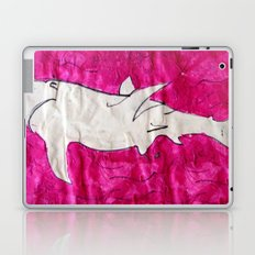 shark in pink paper Laptop & iPad Skin