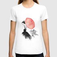 rain T-shirts featuring Polka Rain by Karen Hofstetter