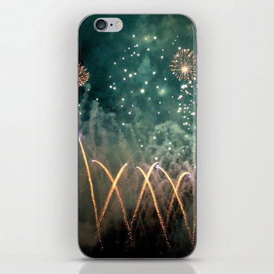 Fireworks Face iPhone & iPod Skin