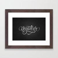 Negative Framed Art Print