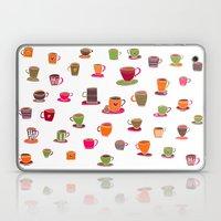 Coffee Cup Green & Orang… Laptop & iPad Skin