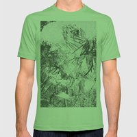 Abstract Nature Mens Fitted Tee Grass SMALL