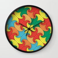 Dancing squares Wall Clock