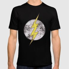 Flash Black Mens Fitted Tee SMALL