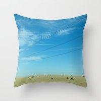 South Dakota Cows Throw Pillow