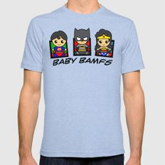 Baby BAMFs  Mens Fitted Tee Tri-Blue SMALL