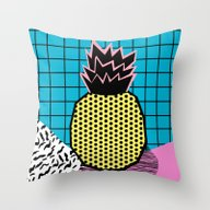 Throw Pillow featuring Grindage - Pineapple Fru… by Wacka