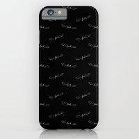 Flying Fuck - White on Black iPhone 6 Slim Case