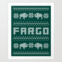 Fargo Sweater Art Print