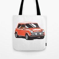 Mini Cooper Car - Red Tote Bag