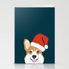 Corgi Christmas  Santa C… Stationery Cards