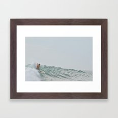 morning surf Framed Art Print