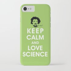Keep Calm and Love Science iPhone 7 Slim Case