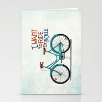 bicycle Stationery Cards featuring Bicycle by Prince Arora