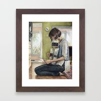 Record Selection Framed Art Print