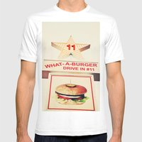 What A Burger Mens Fitted Tee White SMALL