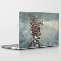 pixel Laptop & iPad Skins featuring The Projectionist (colour option) by Eric Fan