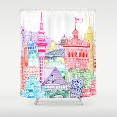 New Zealand Towers  Shower Curtain