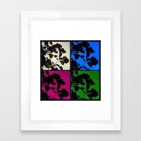 Monarch Silhouette x4 Framed Art Print
