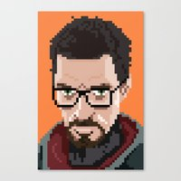 Gordon Freeman Portrait Canvas Print