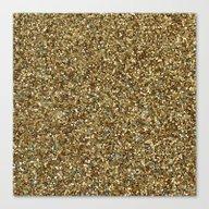 Gold Glitter Canvas Print