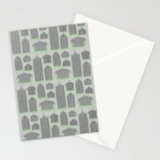 Birdcages (Gray) Stationery Cards