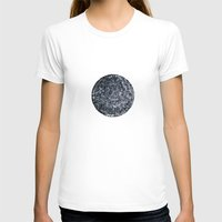 Black hole sun Womens Fitted Tee White SMALL