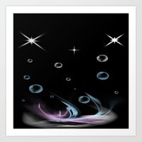 Bubbles in Cambria Art Print