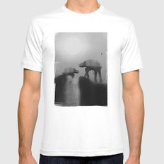 Big Walker Is Watching You SMALL Mens Fitted Tee White