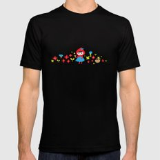 Red Riding Hood in the Forest SMALL Black Mens Fitted Tee