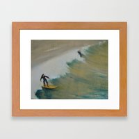 Surf San Diego Framed Art Print