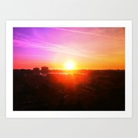 Imaginary Sunset Art Print