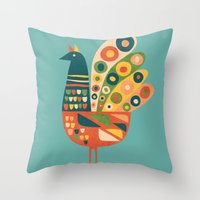 Century Hen Throw Pillow