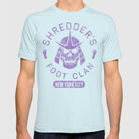 Bad Boy Club: Shredder's Foot Clan Mens Fitted Tee Light Blue SMALL
