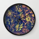 Flowers flowers v2 Wall Clock