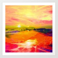 Art Print featuring Crazy Sky  by Haroulita