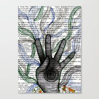 Hand Coding  Canvas Print