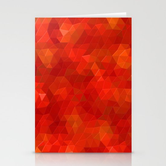 Orange Flames Stationery Card