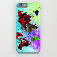 iPhone & iPod Case featuring World Map  by D77 The DigArtisT