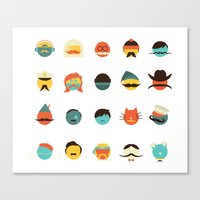 If I Had a Moustache Canvas Print