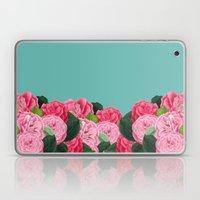 Floral & Turquoise Laptop & iPad Skin