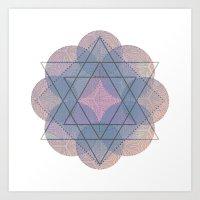 Lotus Flower Healing Ver… Art Print