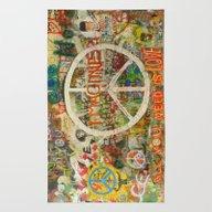 Rug featuring Peace Sign - Love - Graf… by Tara Holland